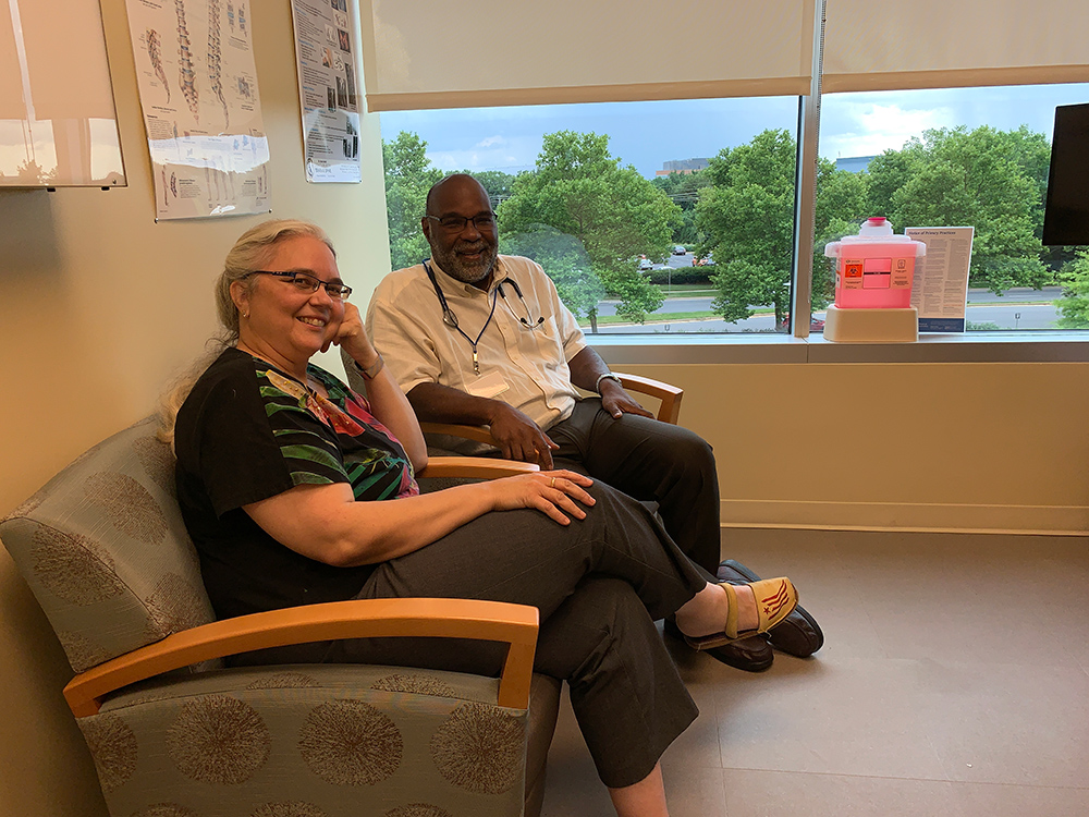 doctor and nurse in a patient room